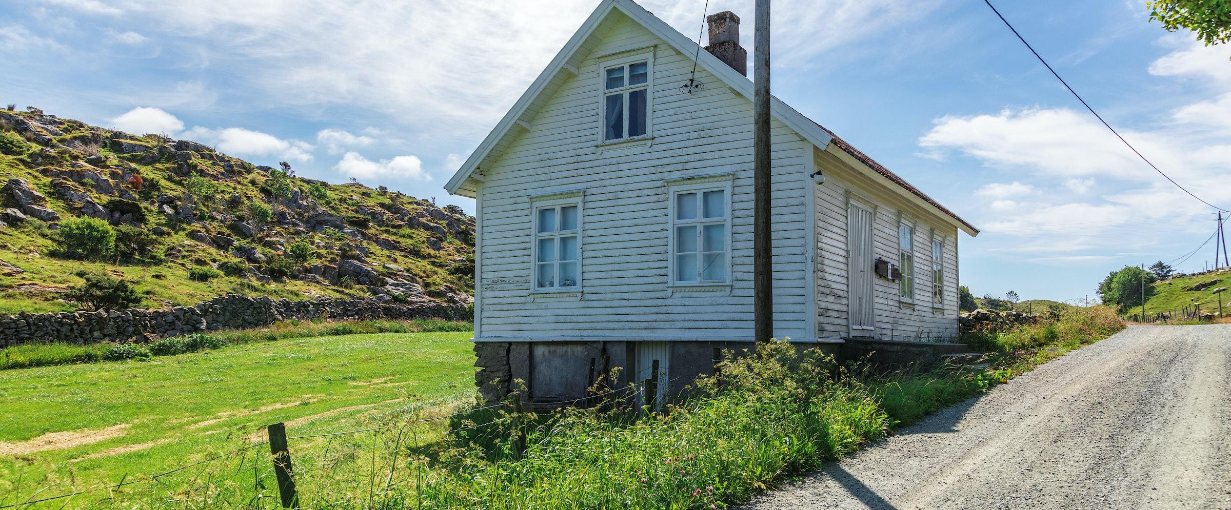 Eksteriørbilder av Bokn bygdemuseum, det gamle ungdomshuset på Håland